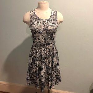 DC Comics Batman Comic Print Sleeveless Dress
